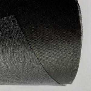 Флизелин 50г/м², точечный, чёрный, ширина рулона 900мм, длина намотки рулона 100 метров, SL