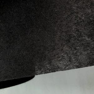 Флизелин 50г/м², неклеевой, отрезной, чёрный, ширина рулона 900мм, длина намотки рулона 100 метров, SL