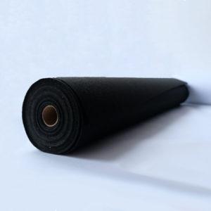 Флизелин 80г/м², неклеевой, отрезной, чёрный, ширина рулона 900мм, длина намотки рулона 100 метров, SL